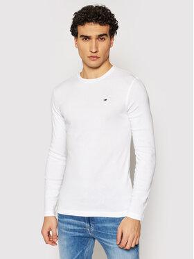 Tommy Jeans Tommy Jeans Longsleeve DM0DM04409 Biały Slim Fit