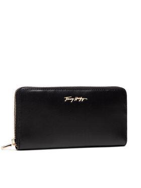 Tommy Hilfiger Tommy Hilfiger Velká dámská peněženka Essential Leather Lrgza AW0AW10498 Černá