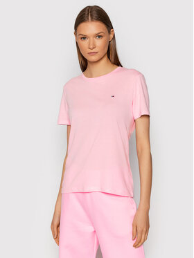 Tommy Jeans Tommy Jeans T-Shirt Soft Jersey DW0DW06901 Różowy Regular Fit