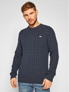 Tommy Jeans Tommy Jeans Sweater Essential Cable DM0DM08807 Sötétkék Regular Fit