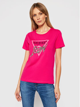 Guess Guess T-shirt Icon W1RI25 I3Z00 Rosa Regular Fit