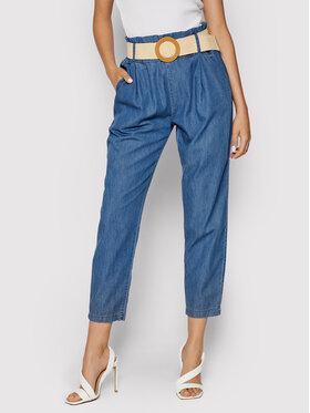 Rinascimento Rinascimento Spodnie materiałowe CFC0103566003 Niebieski Regular Fit