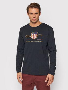 Gant Gant Longsleeve Archive Shield 2004028 Czarny Regular Fit