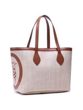 Trussardi Trussardi Borsa Main Logo Pop Shopping Md Straw 75B01065 Beige