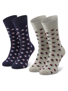 Champion Champion Комплект 2 чифта дълги чорапи мъжки CH0009LN-9GE Сив