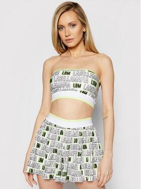 LaBellaMafia LaBellaMafia Compleu top și pantaloni scurți din material textil 21280 Alb Regular Fit
