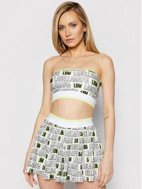 LaBellaMafia LaBellaMafia Marškinėlių ir medžiaginių šortų komplektas 21280 Balta Regular Fit