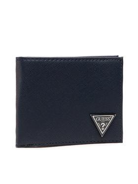 Guess Guess Veľká pánska peňaženka Certosa Slg SMCERT LEA24 Tmavomodrá