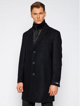 KARL LAGERFELD KARL LAGERFELD Vlněný kabát Twister 455704 502799 Černá Regular Fit