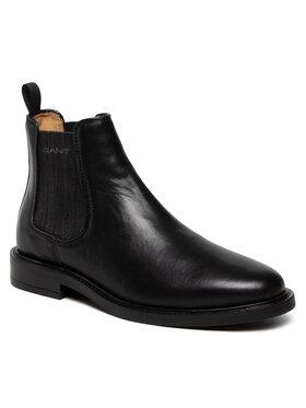 Gant Gant Kotníková obuv s elastickým prvkem St Akron 23651212 Černá