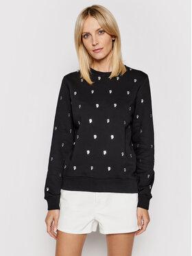 KARL LAGERFELD KARL LAGERFELD Sweatshirt All-Over Ikonik Karl 210W1807 Schwarz Regular Fit