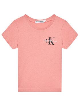 Calvin Klein Jeans Calvin Klein Jeans Póló Chest Monogram IG0IG00573 Rózsaszín Regular Fit