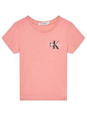 Calvin Klein Jeans Calvin Klein Jeans T-Shirt Chest Monogram IG0IG00573 Rosa Regular Fit