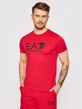 EA7 Emporio Armani EA7 Emporio Armani Tričko 3KPT39 PJ02Z 1450 Červená Regular Fit