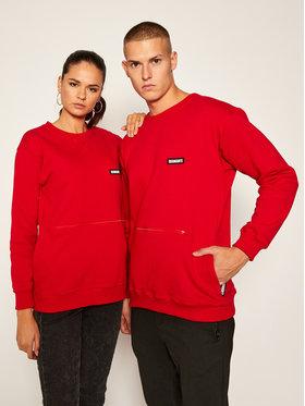 Diamante Wear Diamante Wear Bluza Unisex Basic 5357 Czerwony Regular Fit