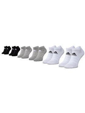 adidas adidas Lot de 6 paires de chaussettes basses unisexe Cush Low 6Pp DZ9380 Noir
