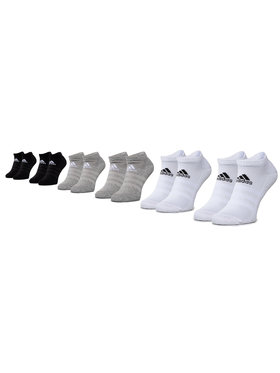 adidas adidas Set de 6 perechi de șosete medii unisex Cush Low 6Pp DZ9380 Negru