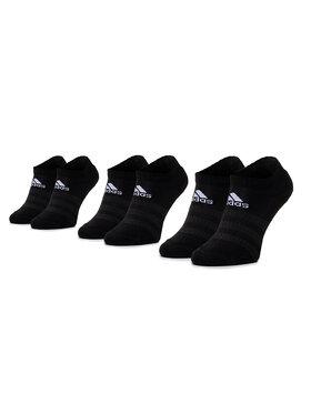 adidas adidas Sada 3 párů nízkých ponožek unisex Cush Low 3PP DZ9385 Černá