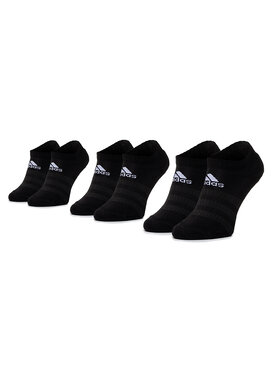 adidas adidas Set de 3 perechi de șosete joase unisex Cush Low 3PP DZ9385 Negru