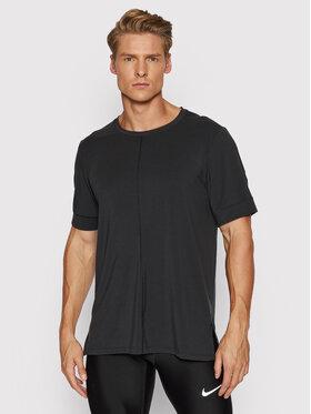 Nike Nike Techniniai marškinėliai Yoga Dri-FIT BV4034 Juoda Slim Fit