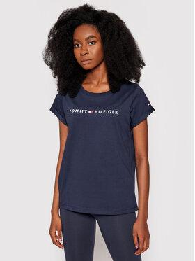 Tommy Hilfiger Tommy Hilfiger T-Shirt UW0UW01618 Granatowy Slim Fit