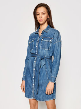 Guess Guess Jeanskleid Salaya W1RK0 PD14LN Blau Relaxed Fit