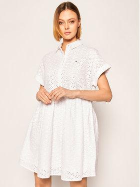 Tommy Jeans Tommy Jeans Kleid für den Alltag DW0DW07909 Weiß Regular Fit