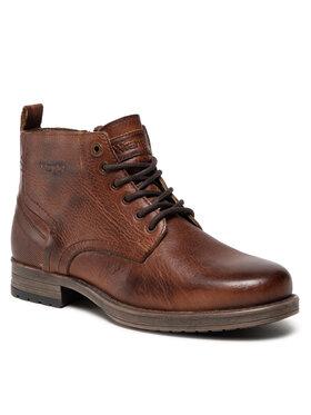 Wrangler Wrangler Kotníková obuv Marlon Boot WM12061A Hnědá