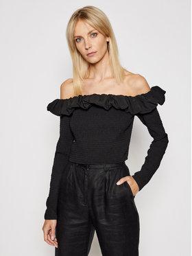 NA-KD NA-KD Блуза Off Shoulder 1018-006810-0002-581 Черен Slim Fit