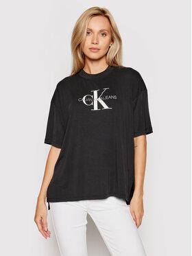 Calvin Klein Jeans Calvin Klein Jeans T-shirt J20J216248 Crna Boyfriend Fit