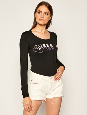Guess Guess Sweater Alice W0YR32 Z2NQ0 Fekete Slim Fit