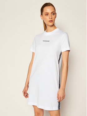Calvin Klein Jeans Calvin Klein Jeans Sukienka codzienna J20J214170 Biały Regular Fit
