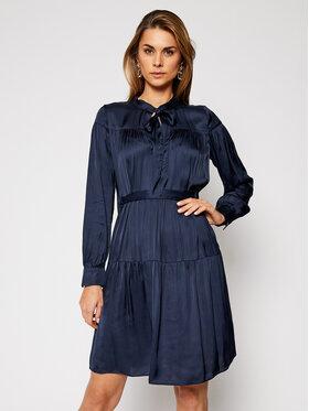 Trussardi Trussardi Marškinių tipo suknelė Satin 56D00463 Tamsiai mėlyna Regular Fit