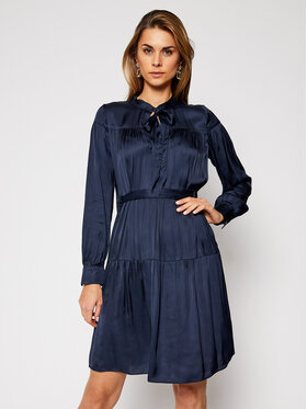 Trussardi Trussardi Robe chemise Satin 56D00463 Bleu marine Regular Fit