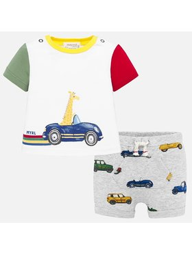 Mayoral Mayoral Komplet t-shirt i spodenki 1276 Kolorowy Regular Fit