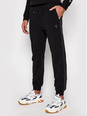 Guess Guess Teplákové kalhoty U1GA11 K6ZS1 Černá Regular Fit