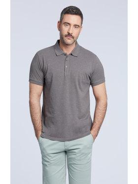 Vistula Vistula Тениска с яка и копчета Cyrus XA1320 Сив Regular Fit