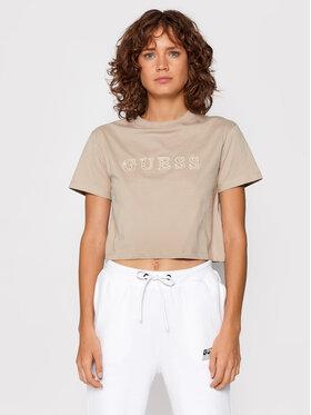 Guess Guess Marškinėliai O1GA06 K8HM0 Smėlio Regular Fit