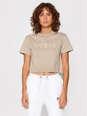 Guess Guess T-Shirt O1GA06 K8HM0 Béžová Regular Fit
