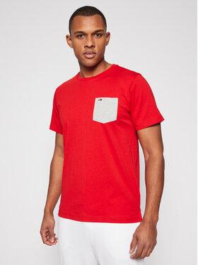 Tommy Jeans Tommy Jeans Marškinėliai Contrast Pocket DM0DM10283 Raudona Regular Fit