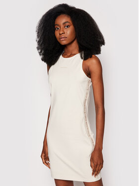 Calvin Klein Jeans Calvin Klein Jeans Každodenní šaty Essentials J20J215681 Béžová Slim Fit