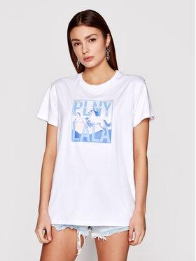 PLNY LALA PLNY LALA Marškinėliai Lucky Lala PL-KO-CL-00180 Balta Classic Fit