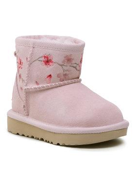 Ugg Ugg Boty T Classic Mini Blossom 1119832T Růžová