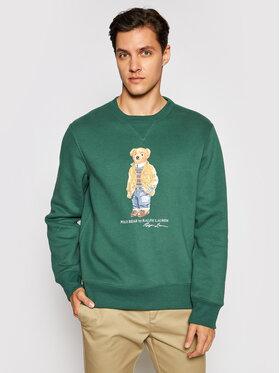 Polo Ralph Lauren Polo Ralph Lauren Bluză Magic Fleece 710829165003 Verde Regular Fit