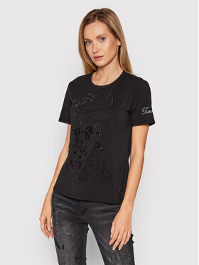 Fracomina Fracomina T-Shirt FD21WT3001J40111 Schwarz Regular Fit