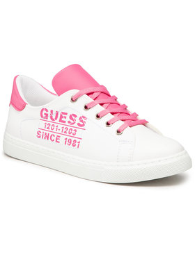 Guess Guess Sneakersy Andrea FJ5AND ELE12 Biały