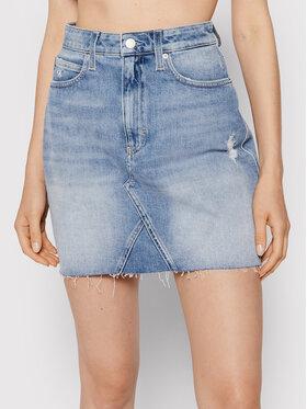Calvin Klein Jeans Calvin Klein Jeans Spódnica jeansowa J20J216510 Niebieski Regular Fit