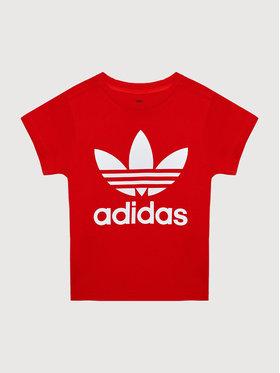 adidas adidas T-Shirt Trefoil H25248 Czerwony Regular Fit