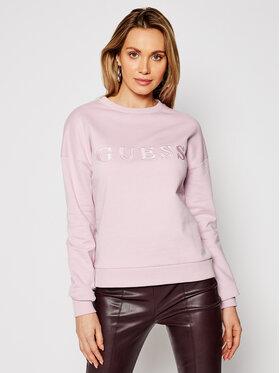 Guess Guess Bluza Alene O1GA01 K68I1 Różowy Regular Fit