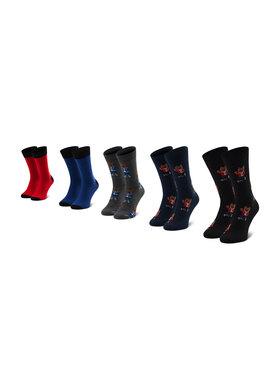 Jack&Jones Jack&Jones Súprava 5 párov vysokých pánskych ponožiek Jacorg Dog Sock 5 12185856 OS Čierna